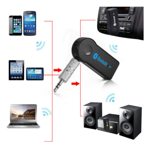 3.5mm AUX Car Wireless Bluetooth Speaker Audio Adapter Stereo Music Receiver