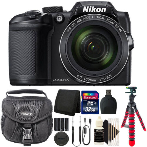 Nikon Coolpix B500 16MP Point and Shoot Camera with 16GB Accessory Bundle
