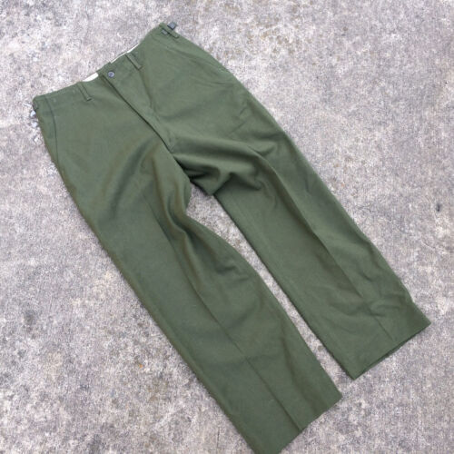 NOS Deadstock Vtg 50's Korean War Wool Military Army Chino Pants Trousers Field Original Period Items - 586