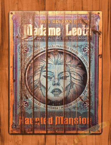 "TIN SIGN ""Madame Leota"" Disney Art Ride Movie Poster Haunted Mansion"