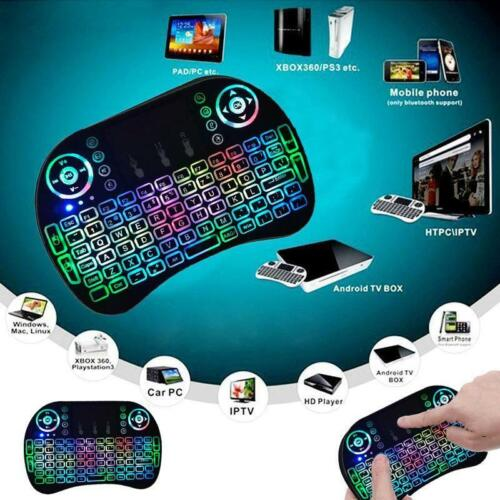Backlight 2.4G Mini Wireless Keyboard Mouse Touchpad For Android Smart TV Box PC