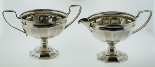 Webster Sterling Silver Fluted Creamer & Sugar Bowl with Handles  *Not Weighted*