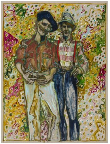 """BILLY CHILDISH 'Father w/ Son', 2013 SIGNED Limited Edition Print 15"""" x 12"""" NEW!"""