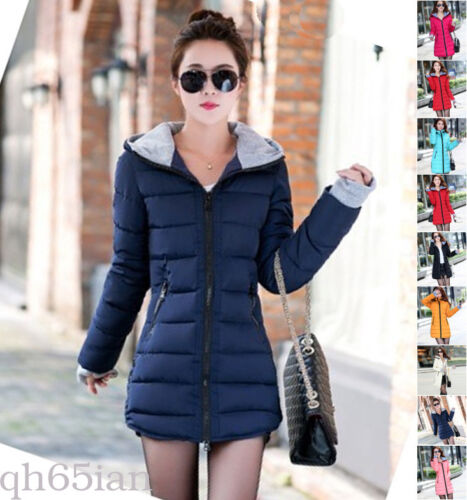 Hot Women Winter Coat Down cotton jacket hooded Long ladies coat parka outwear