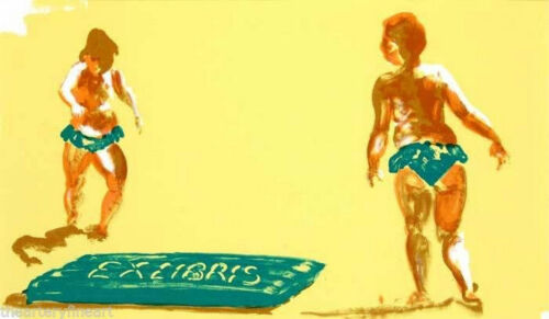 ERIC FISCHL 'Untitled (Bathers at Beach)', 1992 Limited Editon Mini Offset Print