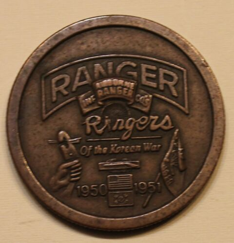 Rangers Airborne of the Korean War 1950-51 Association Challenge CoinOriginal Period Items - 13983