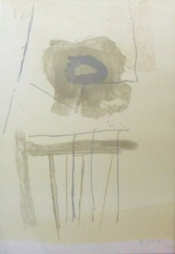 """ROBERT MOTHERWELL """"CHAIR"""" 1971/72 HAND SIGNED LIM.ED LITHOGRAPH LARGE 38.5""""x28"""""""