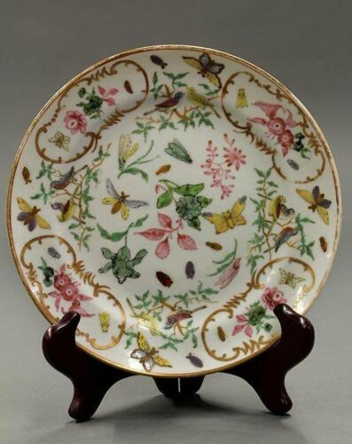 18th C. Chinese Enameled Porcelain Plate,