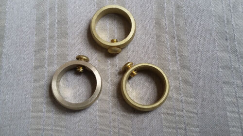 "Weathervane Brass Retainer Ring with Set Screw for 3/4"" Rods - Lot of 3"