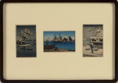 "KAWASE HASUI AND OTHERS Framed together. Including Hasui's ""Children ... Lot 630"