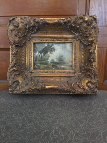Antique Aesthetic Victorian Baroque Style Ornate Gesso on Wood Picture Frame