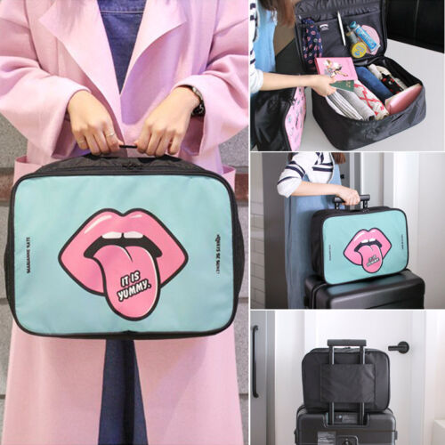 New Cartoon Makeup Bag Travel Storage Pouch Organizer Cosmetic Toiletry Zip Case