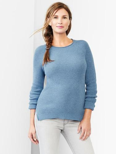 New Gap Maternity Sweater XS Womens Ribbed Crew Pullover Blue $49.95