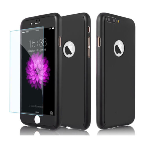 Ultra Thin Slim Hard Case Cover For Apple iPhone 6 6S 7 8/ Plus + Tempered Glass