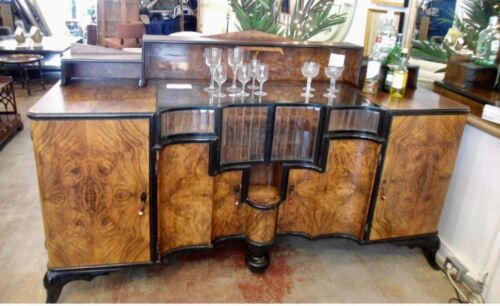 Spectacular Art Deco Liquor Cabinet Buffet  Estate Mahogany Very Stunning Rare