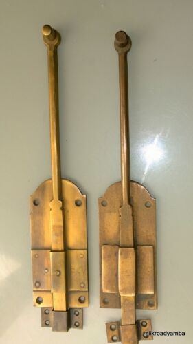 """2 flush BOLT french old age style doors furniture heavy brass slide 11"""" bolts B"""