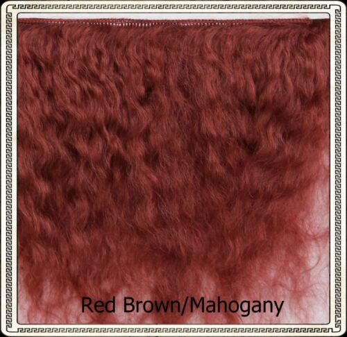 "Reborn Doll Mohair  RED BROWN/MAHOGANY,  Wefts measure approx 5"" - 6"" X 36"""