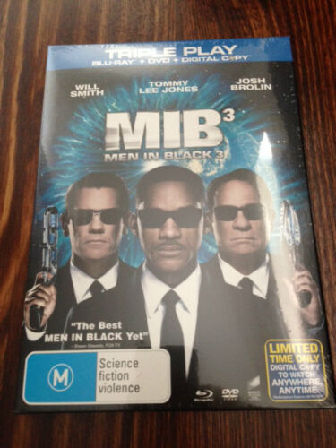 MIB3 Men In Black 3 Triple play blu-ray dvd FACTORY SEALED NEW