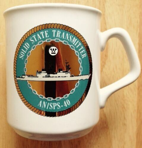 1970s WESTINGHOUSE MILITARY DEFENSE CONTRACTOR COFFEE MUG, AN/SPS-40 RADAROther Militaria - 135