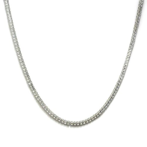 Pharaoh Necklace Platinum Plated CZ Square Cut 4mm