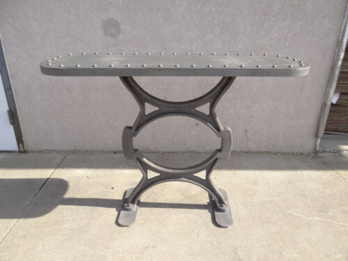 industrial cast iron rivet sofa hall foyer console table tv stand chic server