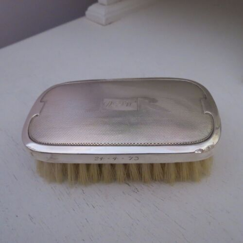 Vintage sterling silver topped clothes brush hallmarked 1968