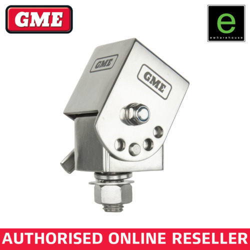 GME FOLD DOWN ANTENNA MOUNTING BRACKET FOR UHF CB AERIAL - MB042 SILVER