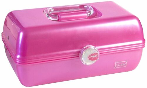 Caboodles On The Go Girl Classic Pink Cosmetic Makeup Travel Case Box Organizer