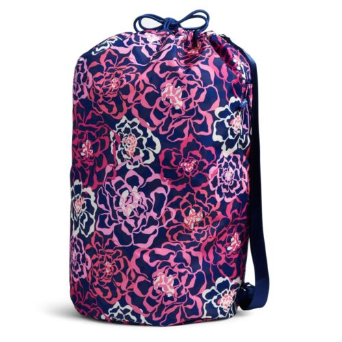 Vera Bradley Factory Exclusive Laundry Bag in Katalina Pink