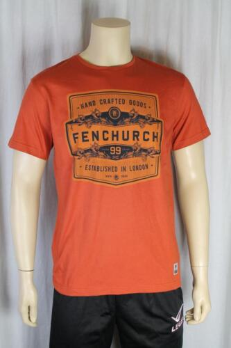 FENCHURCH uomo color ruggine T SHIRT TAGLIA MEDIA (85)