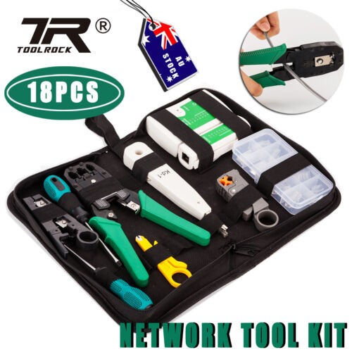 Network Cable Tool Cable Tester Kit Crimper RJ45 Punch Down Wire Stripper Kit