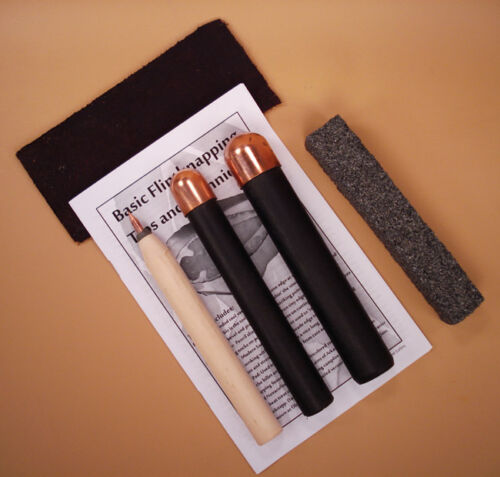 Copper Knappers Bundle Pack - Tools for Flint Knapping Arrowheads and Blades