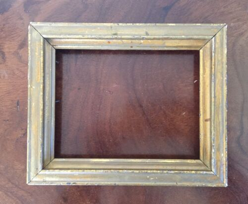 Small Size Antique Victorian Arts & Crafts Gilt Wood Picture Frame Late 19th c.