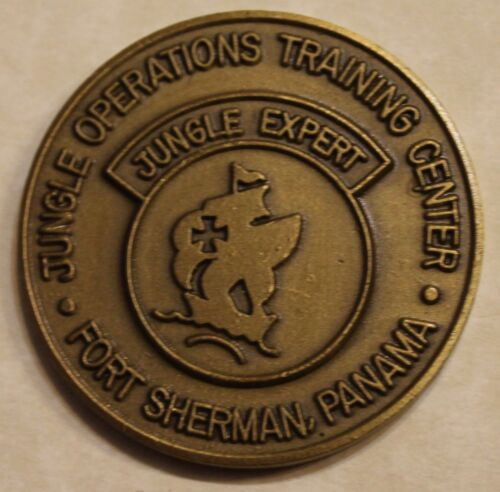 Jungle Expert Operations Training Center Ft Sherman Panama Army Challenge CoinOriginal Period Items - 13983