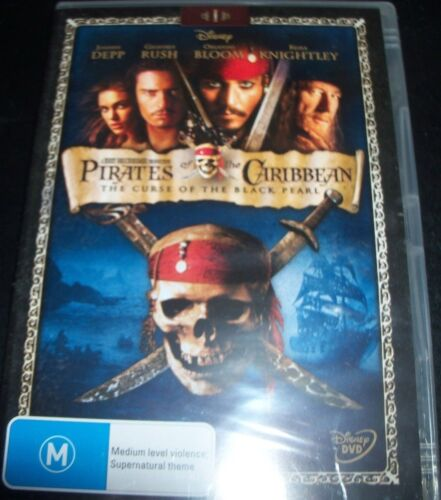 Pirates Of The Caribbean The Curse Of The Black Pearl (Aust Reg 4) DVD - New