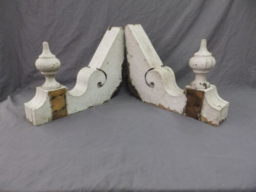 Antique Shabby Wood Victorian Corbels Roof Brackets Vintage Country Chic 294-18P