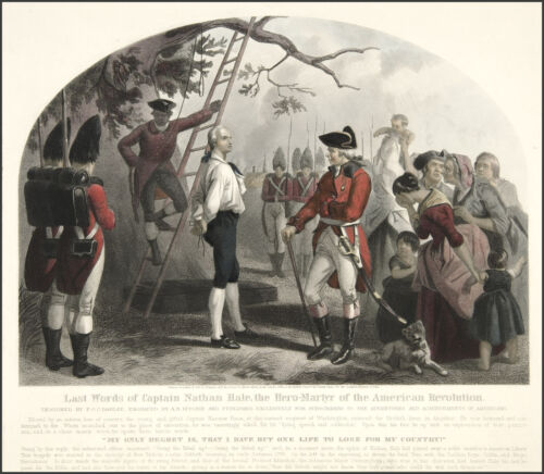 Images of Americana: The Last Words of Nathan Hale: Fine Art Print