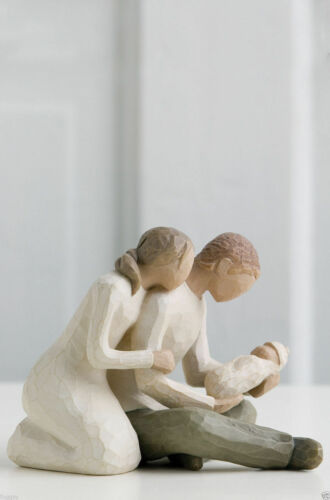 Willow Tree Figurine New Life Mother Father & Baby Susan Lordi  26029