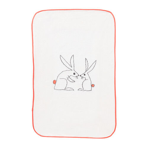 IKEA SKOTSAM Babycare Baby Nappy Change Changing Mat Pad Soft Cover with Rabbits