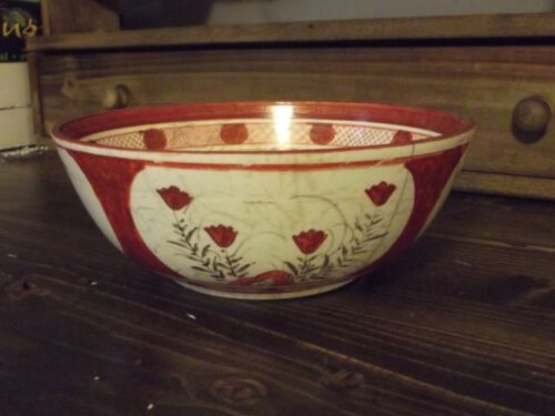Antique Chinese Bowl - hand painted - old - signed by maker