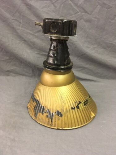 Vtg Industrial X Ray Light Gold Mercury Shade Factory Curtis Steampunk 128-18E
