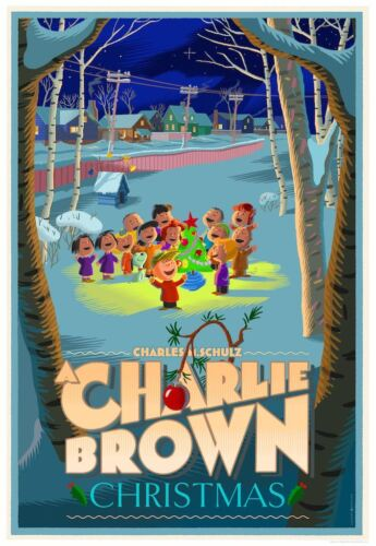 A CHARLIE BROWN CHRISTMAS Laurent DURIEUX Variant limited edition print #50