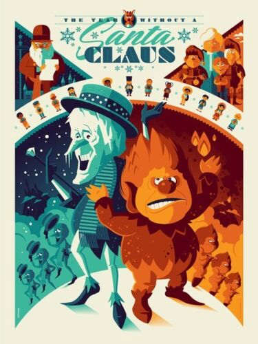 YEAR WITHOUT A SANTA CLAUS TOM WHALEN variant Limited edition print #50