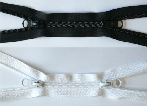 garnimex Continuous Zip 5 mm Dark Grey 2 m with 6 Zippers Colour 038
