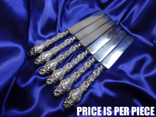 WHITING LILY STERLING SILVER PLACE KNIFE (NO MONOGRAM!)- GOOD CONDITION S