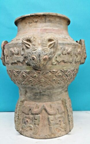 ANTIQUE LARGE CHINESE POTTERY JAR