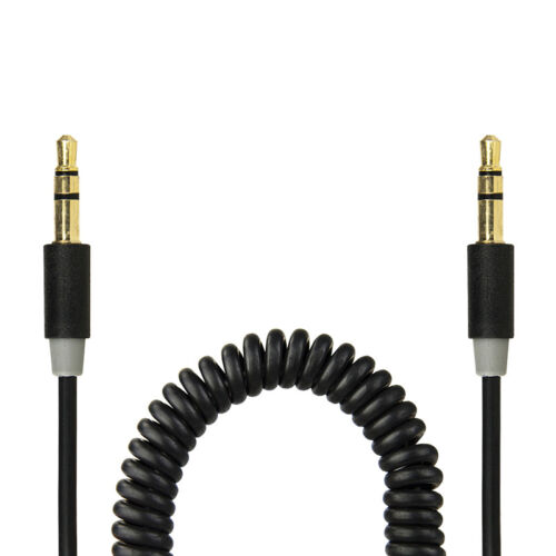 Gecko soundwire coiled 40cm-1.8m stereo cable RRP $12.95