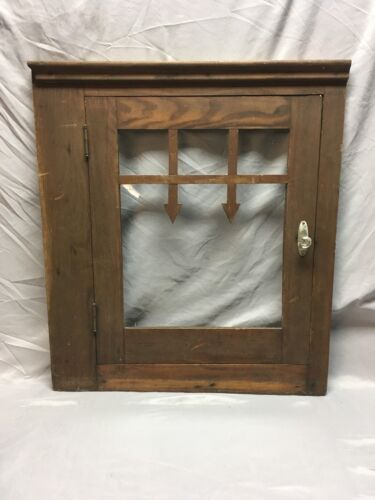 Vtg Pine Cabinet Cupboard Door Face Front Country Cabin Lodge Old Arrows 382-18E