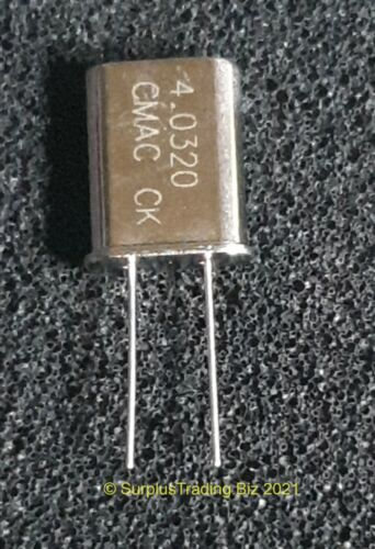 3 St Miniatur-Quarz 18.432.000Hz   18,432 MHz  HC-49//U-S  HC49U-S  NEW  #BP