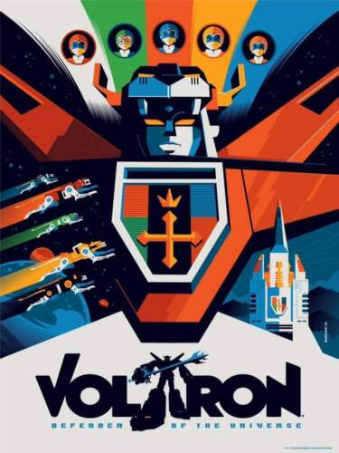 TRANSFORMERS VOLTRON TOM WHALEN Limited edition print #200 18x24